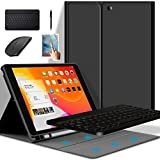 iPad Keyboard Case with Pencil Slot for Pro 12.9 inch 2021/2020 /2018 iPad Case with Bluetooth Keyboard & Wireless Mouse Black, Pro 12.9 (2018/2020/2021)