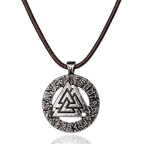 Viking Valknut Pendant Norse Warrior Odin Symbol Amulet Necklace For Men Celtic Jewelry