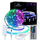 Inscrok 16.4ft LED Light Strips 5050 RGB Waterproof LED Strip Lights...