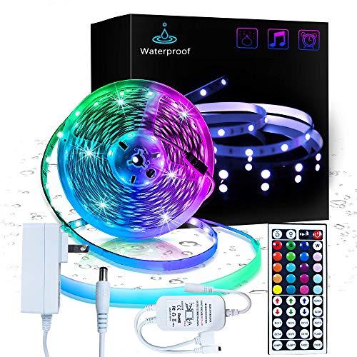 Inscrok 16.4ft LED Light Strips 5050 RGB Waterproof ...