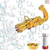 Gatling Bubble Gun TikTok Pistola de pompas de jabón, juguete para pompas de jabón, pistola de pompas de jabón, pistola de pompas de jabón para cumpleaños