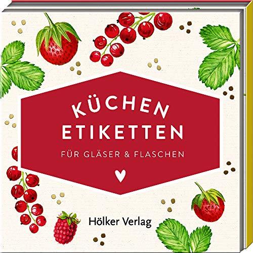 Küchen-Etiketten (Rote Beeren, Hölker Küchenpapeterie): Für Gläser & Flaschen