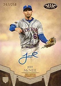 2019 Topps Tier One Baseball #BA-JMC Jeff McNeil Certified Autograph Rookie Card - Only 250 made!