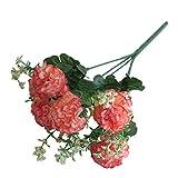 Candyboom Simulacion Flor Decorativa eucalipto Rosa Rosa