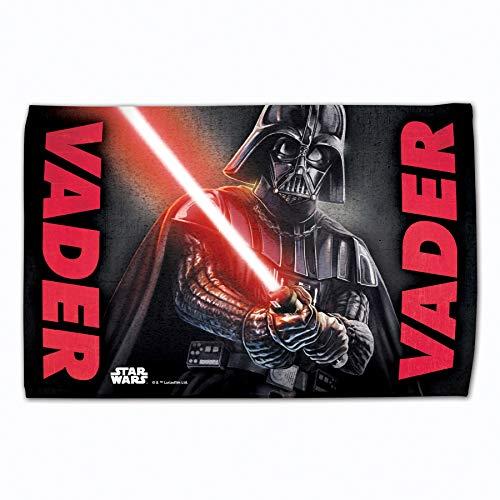 - Toalla de golf con licencia original de Star Wars (Darth Vader) (60 x 40 cm)