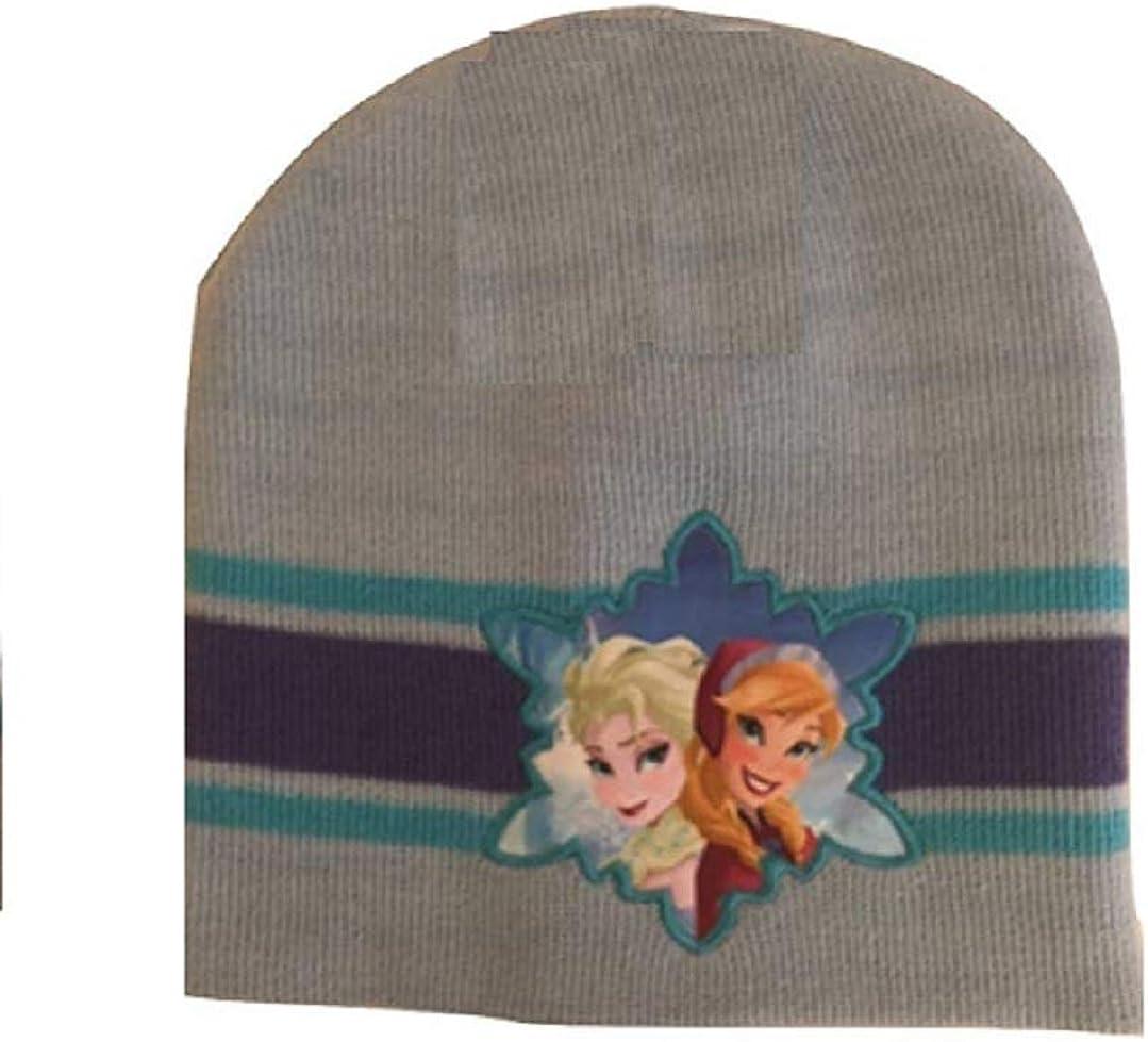 Disney Frozen Anna & Elsa Beanie Hat, Blues & Purples
