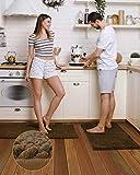 Pretigo Kitchen Rug Sets - Rugs for Kitchen Floor Washable,Non-Slip Soft Chenille Kitchen Mat...