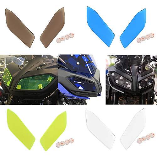 FATExpress Protection de phare avant de moto en plastique - Protection de tête de lampe pour Yamaha MT FZ 09 FZ09 MT09 MT-09 FZ-09 FZ-09 17-18 (marron)
