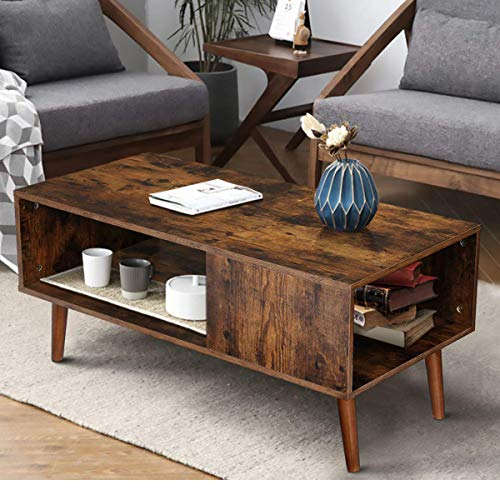 KingSo Retro Coffee Table Mid Century Modern Coffee Table...