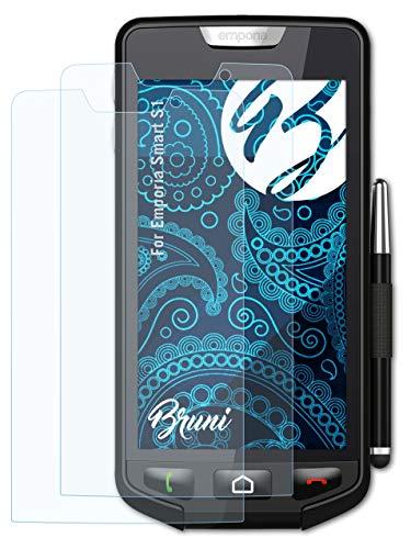 Bruni Schutzfolie kompatibel mit Emporia Smart S1 Folie, glasklare Bildschirmschutzfolie (2X)