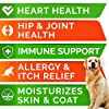 Fish Oil Omega 3 Treats for Dogs - Allergy and Itch Relief - Skin and Coat Supplement - Joint Health - Wild Alaskan Salmon Oil - Shedding, Itchy Skin Relief - Omega 3 6 9 - EPA & DHA - 180 Chews #5