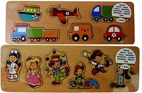 Puzzle en bois enfant jouet pädagogisch setzpuzzle enfants puzzle en bois Fahrzeuge