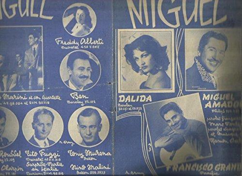 Partition : Miguel - Dalida, Miguel Amador, Francisco Grandey