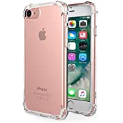 iPhone 6s Case,iPhone 6 Case,Yoyamo Clear Shock Absorption with Transparent Hard Plastic Back Plate and Soft TPU Gel Bumper for iPhone 6s/6
