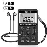 Radio Portable Mini Radio de Poche FM/AM Stéréo DSP Récepteur USB Rechargeable...