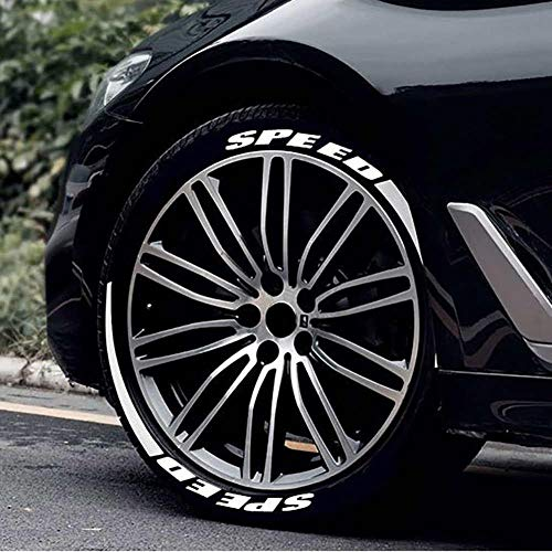 learnarmy Universal 3D Auto Reifen Rad Aufkleber Räder Decals Aufkleber Fahrrad Motorrad Auto Styling Approachable Convenient (Speed)