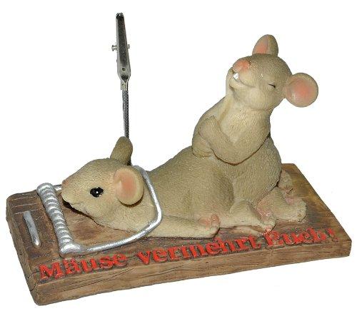 Unbekannt Geldclip / Geldhalter / Fotohalter Deko wie Spardose Mausefalle  Mäuse vermehrt Euch  - stabiles Geldgeschenk aus Kunstharz - Mäuse Geld Kohle Käse Mäusefal..