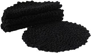 crochet round dishcloth