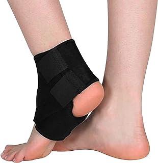 Suporte para Tornozelo Ortopédico Profissional Ajustável com Elástico de Quatro Vias e Cinta de Compressão -