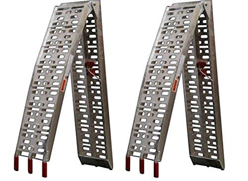 Par de rampas Plegables de Aluminio para Quad, Motocicleta o cortacésped, 230mm de Anchura.