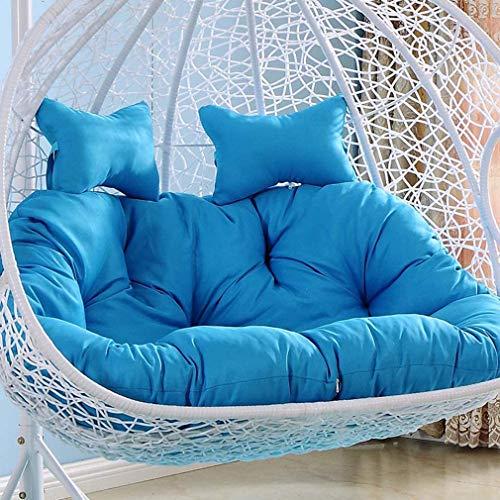 WZDD Cojines columpios para sillas de hamaca, cojines de ratán para sillas, cojines de asiento colgantes de ratán, cojines de asiento de hamaca para colgar huevos para interiores y exteriores, jardín