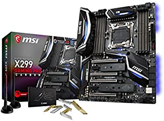 MSI X299 Gaming Pro Carbon AC - Placa Base Performance (Chipset Intel X299, Mystic Light, 3D Printing Support, Twin Turbo M.2, VR Ready, VR Boost, Audio Boost 4 con Nahimic) [Modelo Antiguo]
