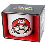 STOR Tazza in ceramica da colazione 400 ml, Super Mario in confezione regalo, colore: Bianco, misura media