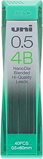 Uni Mechanical Pencil Lead, Nano Dia, 0.5mm, 4B (U05202ND4B)