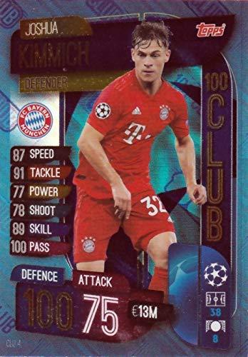 Match Attax Extra 2019/20 Joshua Kimmich FC Bayern München 100 Verein Karte