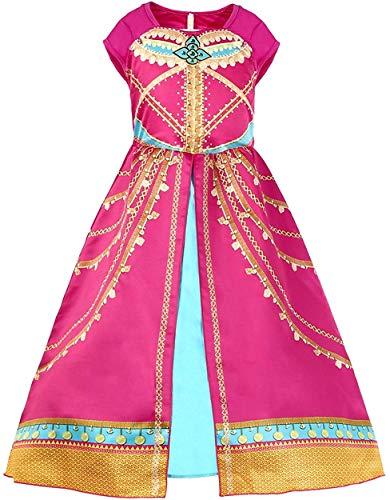 Atorcher Jasmin-Prinzessinnen-Kostüm für Mädchen, rosarot Gr. 9-10 Jahre, rosarot