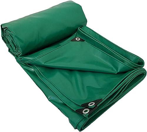 Bache imperméable de PVC, Prougeection extérieure imperméable de Couverture de bache enduite de bache épaisse, Vert, 1,5 M  2 M
