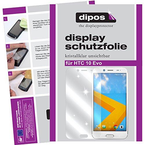 dipos I 2X Schutzfolie klar kompatibel mit HTC 10 Evo Folie Displayschutzfolie