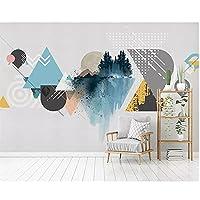 ーチ壁画壁画 壁飾 家の壁の装飾 壁紙北欧のモダンなミニマリストの幾何学的なカラーブロック リビングルームの寝室のテレビの背景の壁の装飾 インストールが簡単 防水厨房装飾画壁画 リビングルームの壁画 350x250cm