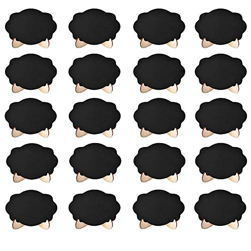 Mini Pizarrones Rectángulo Pequeño Lugar Tarjetas Placa De Madera Vintage Pizarra Celebración Fiestas De Pizarra De Decoración Para Decoración Fiesta Buffet Decoración Mesa De Boda Vintage 20 Piezas