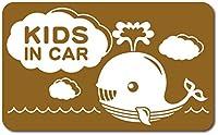 imoninn KIDS in car ステッカー 【マグネットタイプ】 No.33 クジラさん (ゴールドメタリック)