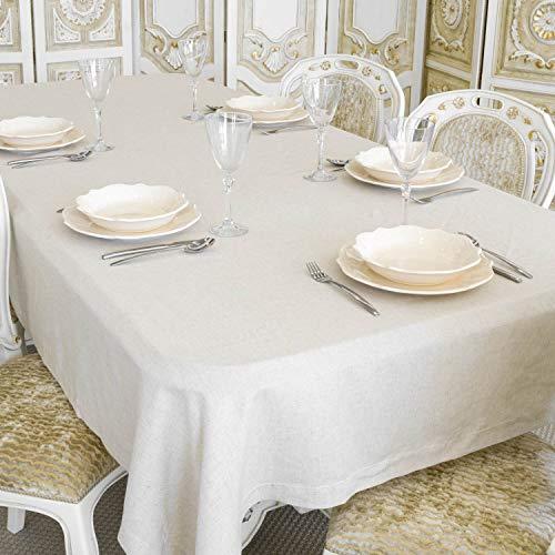 Nappe en lin de luxe rectangulaire - Grandes tailles (59 x 157 (150 x 400 cm)