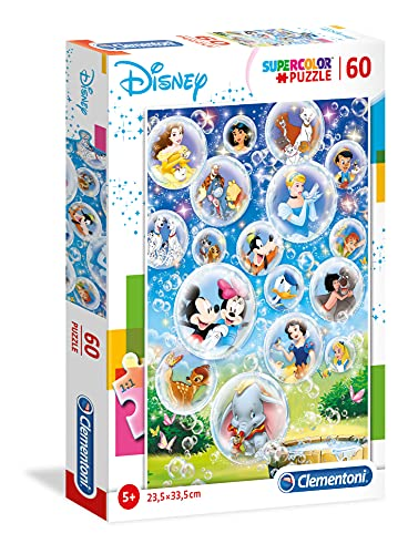 Clementoni- Disney Classic Puzzle Suelo, 60 Piezas, Multicolor, 60pezzi (26049)