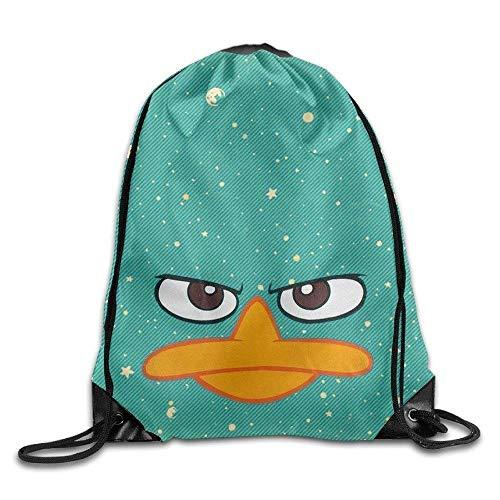 Dutars Perry Platypus – Visage Phineas Ferb Cool Cordon de Serrage Sac à Dos Corde Sac