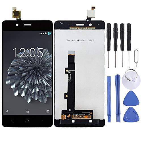 Tangyongjiao Piezas de Repuesto del teléfono Celular Pantalla LCD y ensamblaje Completo del digitalizador for BQ Aquaris X5 Plus Accesorio de Repuesto de teléfono (Color : Black)