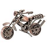 Vintage Modelo de la Motocicleta,Vintage Hecha a Mano Hierro Moto Modelo,para decoración de Ministerio del Interior, Regalos de fotografía Novio, Regalo de cumpleaños de Navidad,Cobre Rojo