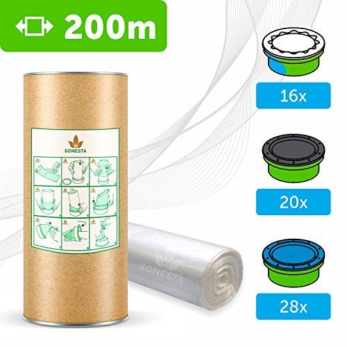 200 M - ECO Recarga compatible Sangenic Tommee Tippee | Angelcare para pañales | equivalente 16 cajitas Sangenic | 28 Angelcare | Producido en Europa + rollo de cartón para rellenar fácil