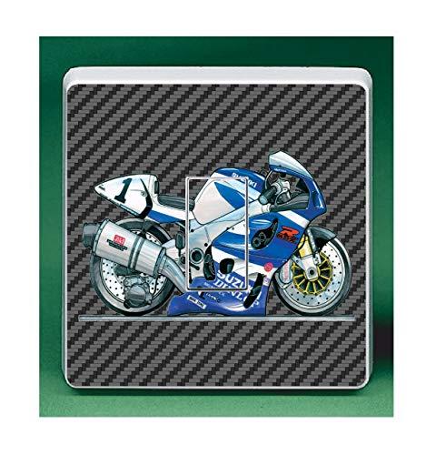 Koolart GSXR 1000 Superbike Motorbike UK Lichtschalter-Aufkleber, für Kinder- und Kinderzimmer, 84 x 84 mm