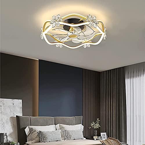 LED Ventilador De Techo con Luz Regulable con Control Remoto Y Temporizador Ventilador con Iluminación 3 Velocidades De Viento Ajustable con Ventilador para Sala De Estar Dormitorio