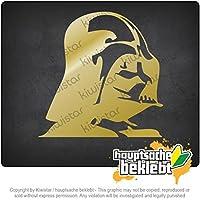 ダース・ベイダー Darth Vader 11cm x 11cm 15色 - ネオン+クロム! ステッカービニールオートバイ