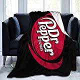 12shengxiao Today's Good Mood is Sponsored by Dr Pepper Digital Printed Ultra-Soft Micro Fleece Blanket Soft Warm 80'X60'