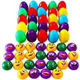 25 Packs Easter Eggs Filled with 25 Assorted Pull Back Silly Faces for Kids Easter Egg Hunt Games, Cute Pull Back Toys For Easter Basket Stuffers, Carnivals School Supplies and Gift Exchange