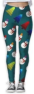 XMKWI Christmas Snow Men Women Power Flex Stretch Yoga Pants Workout Tights Leggings Trouser