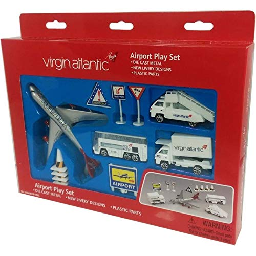 Premier Planes Real Toys VAA6261 Virgin Atlantic 13Piece Airport Set