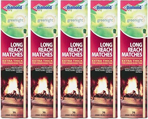 Diamond Long Reach Matches 5 Boxes of 75 each