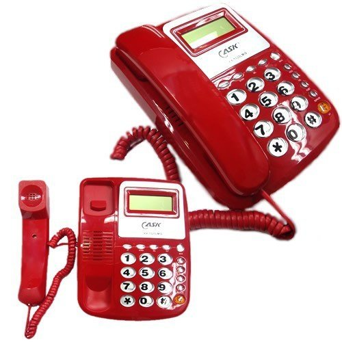 takestop® Telefoon Feeste JS Tafel Kxt025 met grote toetsen Retro verlichting licht Muto Anzian functie voor huis kantoor Kleur Casual
